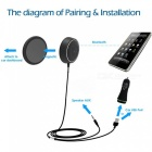 3.5mm Bluetooth 4.0 Music Receiver sovitin HF-AUX kaiutin