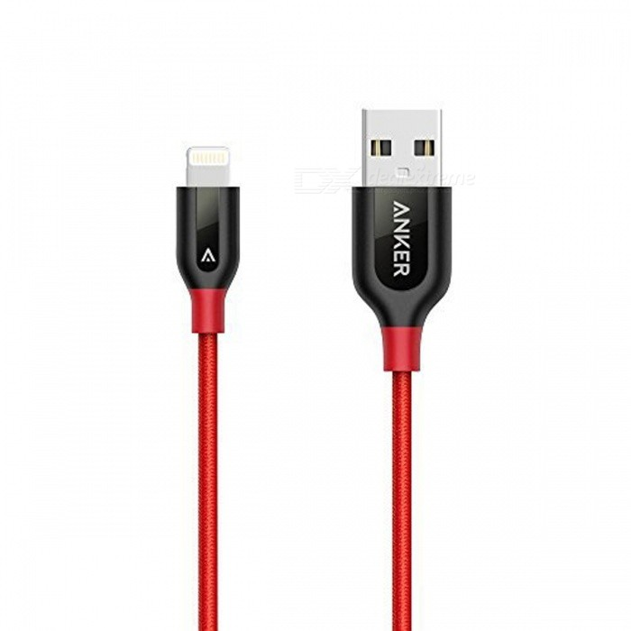 Anker Powerline + Blixt till USB MFi Cable - Röd (3 fot)
