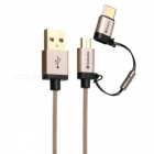 Verbatim-120cm-2-in-1-USB-to-Micro-USB-Type-C-Cable-Golden