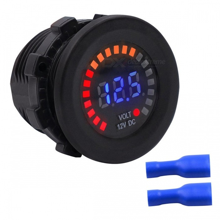 Buy CS-489A1 12V LED Digital Display Voltmeter for Car / Motorcycle with Litecoins with Free Shipping on Gipsybee.com
