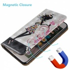 BLCR 3D kohokuvioitu Girl Pattern Magnetic PU Case for iPhone SE / 5S / 5