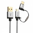 Verbatim-120cm-Micro-USB-USB-Type-C-to-USB-Cable-Silver-65293