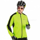 NUCKILY Wasserdichtes Radfahren Fleece Jersey - Fluorescent Green (2XL)