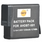 DSTE AHDBT-501 3.85V / 1230mAh akku GoPro HERO5 Sports Camera