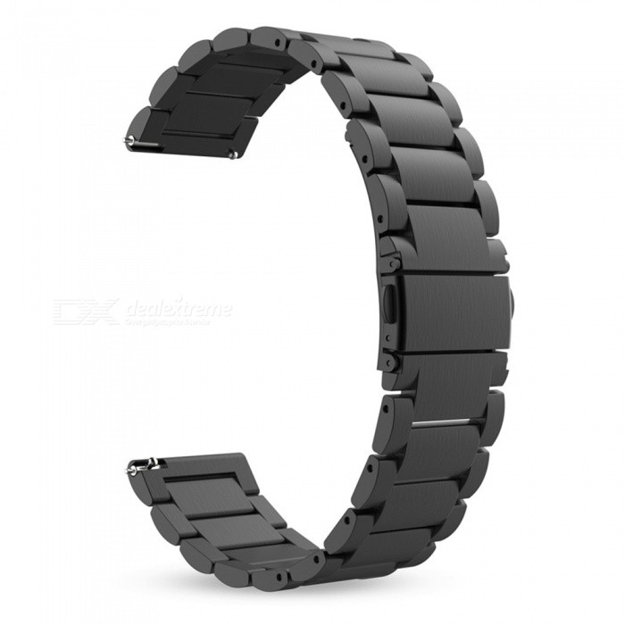 Miimall Stainless Steel Replacement Band for Samsung Gear S3 - BlackWearable Device Accessories<br>Form  ColorBlackQuantity1 DX.PCM.Model.AttributeModel.UnitMaterialStainless SteelPacking List1 x Replacement band (Smart Watch not Included) 1 x Removal tool for adjusting the length of band<br>