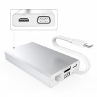 GTcoupe typ C Adapter till HDMI / VGA / Ethernet / 2 USB3.0 - Silver