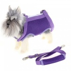 Multifunktionell Mesh Pet Puppy Dog Harness Carrier Bag - Purple (L)