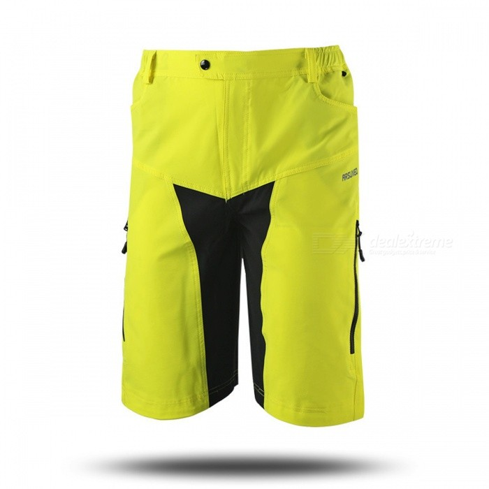 Buy ARSUXEO DH-2 Men's Casual Shorts for Mountain Cycling - Yellow (XXL) with Litecoins with Free Shipping on Gipsybee.com