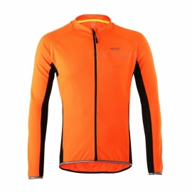 Arsuxeo Cycling Quick-Drying Polyester Long-Sleeve Jersey - Orange