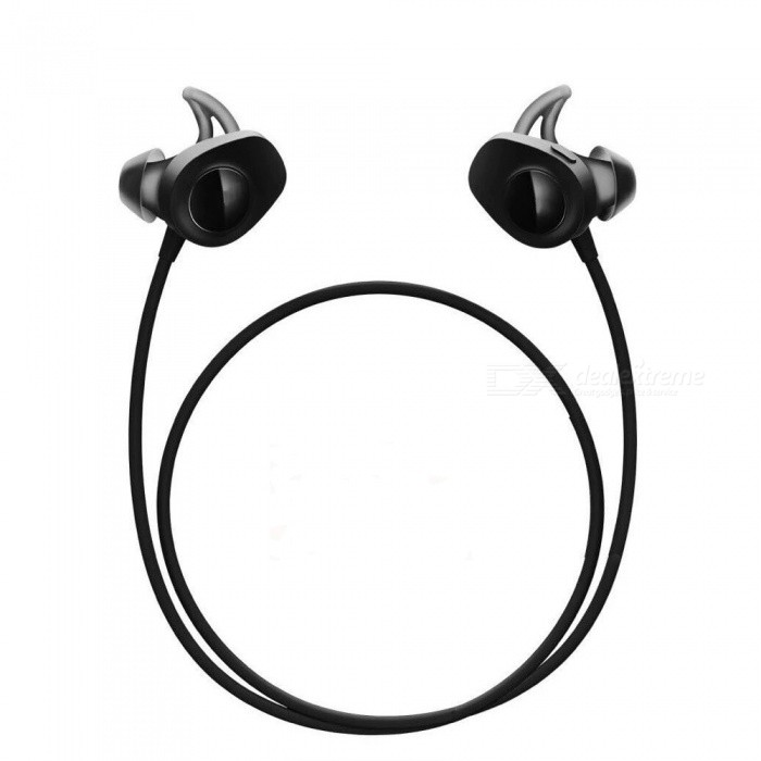 AMW-20 Wireless Bluetooth v4.2 hängare Typ Stereo Headset - Svart
