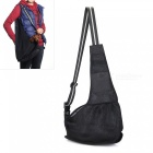 Mesh-Pet-Dog-Cat-Puppy-Crossbody-Shoulder-Bag-Satchel-Black-(L)