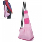 Mesh-Pet-Dog-Cat-Puppy-Crossbody-Shoulder-Bag-Satchel-Pink-(L)