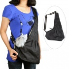 Pet-Dog-Cat-Oxford-Cloth-Sling-Single-Shoulder-Bag-Black-(M)