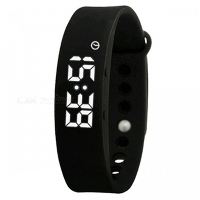DMDG Smart Wrist Watch Wristband Bracelet w/ 3D Pedometer - BlackSmart Bracelets<br>Form  ColorBlackQuantity1 DX.PCM.Model.AttributeModel.UnitMaterialABSShade Of ColorBlackWater-proofNoBluetooth VersionNoTouch Screen TypeOthers,LEDOperating SystemNoCompatible OSNOBattery Capacity210 DX.PCM.Model.AttributeModel.UnitBattery TypeLi-ion batteryStandby Time150 DX.PCM.Model.AttributeModel.UnitPacking List1 x Smart Bracelet 1 x USB Charger 1 x English User Manual<br>