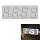 "Eastor DS3231 5V USB 3"" Car LED Display Digital Clock White Light"