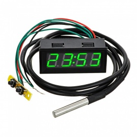 Eastor-Car-Time-Voltage-Temperature-Meter-w-2quot-LED-Display