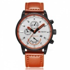 CURREN-8217-Fashion-Mens-Alloy-Case-Wrist-Watch-Black-2b-Orange