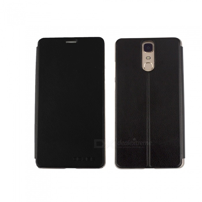OCUBE PU Leather Flip-open Case for Doogee Y6 MAX Mobile Phone - Black