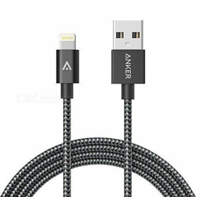 Anker 6ft Nylon Braided USB Cable w/ Lightning Connector - Space Gray
