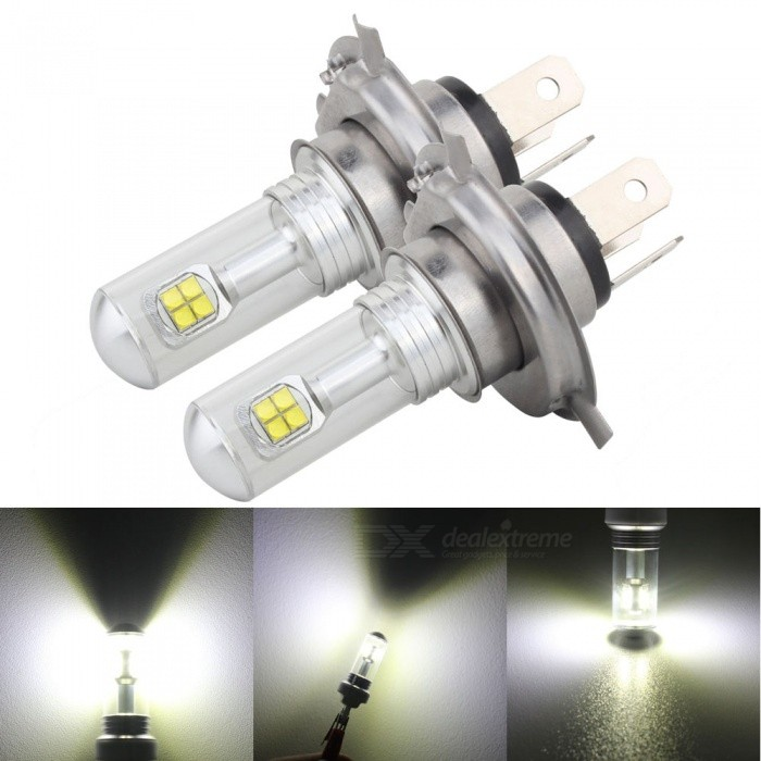 MZ H4 9003 HB2 40W 12V LED Car Fog Light DRL Conversion Bulb  (2 PCS)