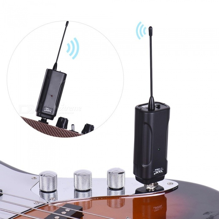 Buy Wireless Audio Transmitter Receiver System for Electric Guitar with Litecoins with Free Shipping on Gipsybee.com