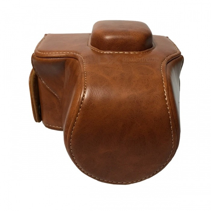 Ismartdigi Crazy Horse Leather Camera Case for Olympus EM10 - Brown