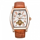 MCE-Genuine-Leather-Strap-Tourbillon-Mechanical-Watch-White-2b-Brown