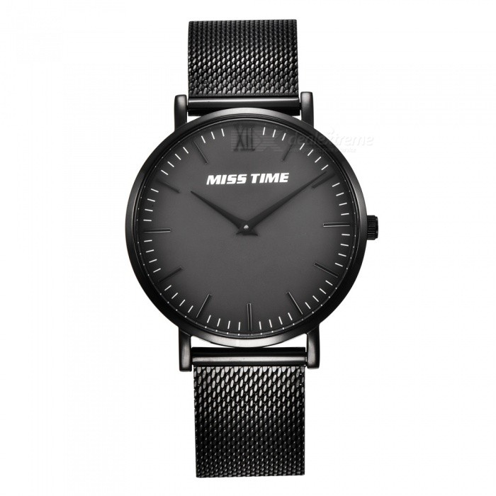 Buy MCE 07-002 Ultra-thin Ladies Fashion Quartz Analog Wrist Watch - Black with Litecoins with Free Shipping on Gipsybee.com