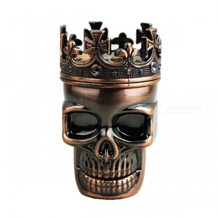 Aluminum Alloy 3 Layer Crown Skull Style Grinder - Bronze for sale in Bitcoin, Litecoin, Ethereum, Bitcoin Cash with the best price and Free Shipping on Gipsybee.com