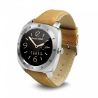 DOMINO-DM88-Leather-Strap-Bluetooth-Smart-Watch-Silver