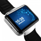 DOMINO DM98 Metal Dubbelkärna Android 4.4 Smart Phone Watch - Silver