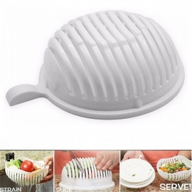 KICCY-Salad-Maker-Healthy-Slicer-Fresh-Fruit-Tool-Cutter-Bowl-White