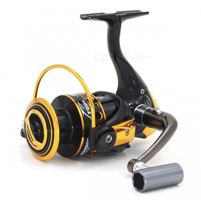 DAO DE LAI DQ12+1 5000 Outdoor Fishing Gapless Spinning Reel - Black