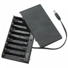 8xAA / 2A Universal Battery Clip Holder 12V Storage Case - Musta
