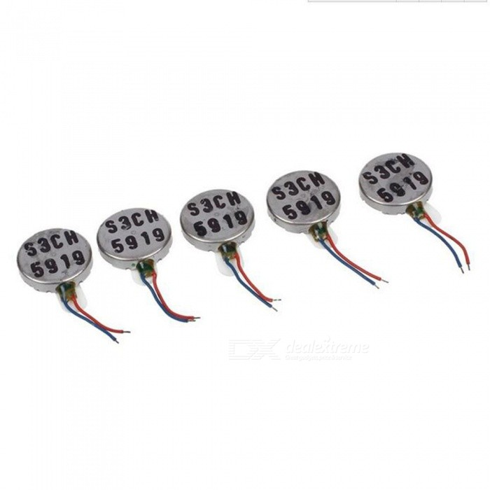 1227 Voltage 3V Vibration Micro Motors (12mm x 2.7mm) - Brown + Red