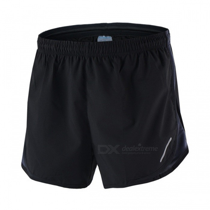 Buy ARSUXEO Sport Marathon Running Men's Pants Shorts - Black + Grey (XL) with Litecoins with Free Shipping on Gipsybee.com