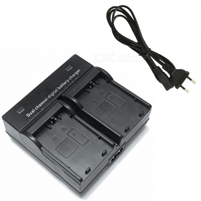 Ismartdigi LPE5 Camera Battery Dual Charger for Canon EOS (EU Plug)