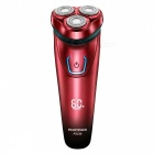 FLYCO-FS338-3D-Floating-Shaver-Rechargeable-Electric-Razor-Red