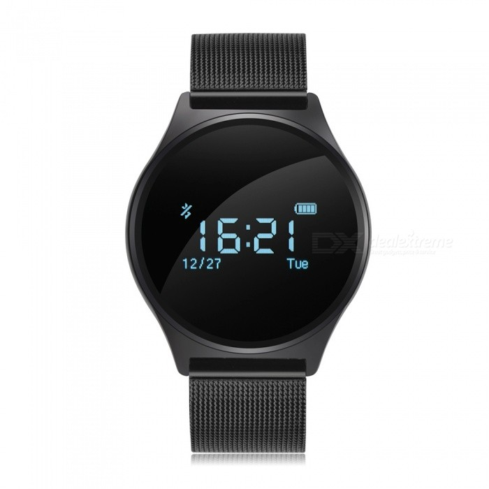 Buy Blood Pressure Smart Watch w/ Heart Rate Monitor - Metal Strap (Black) with Litecoins with Free Shipping on Gipsybee.com