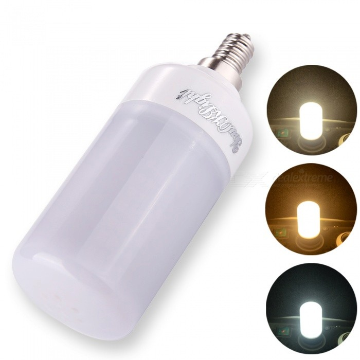 YouOKLight E12 6W 160SMD-2835 Three-Color Dimming LED Bulb