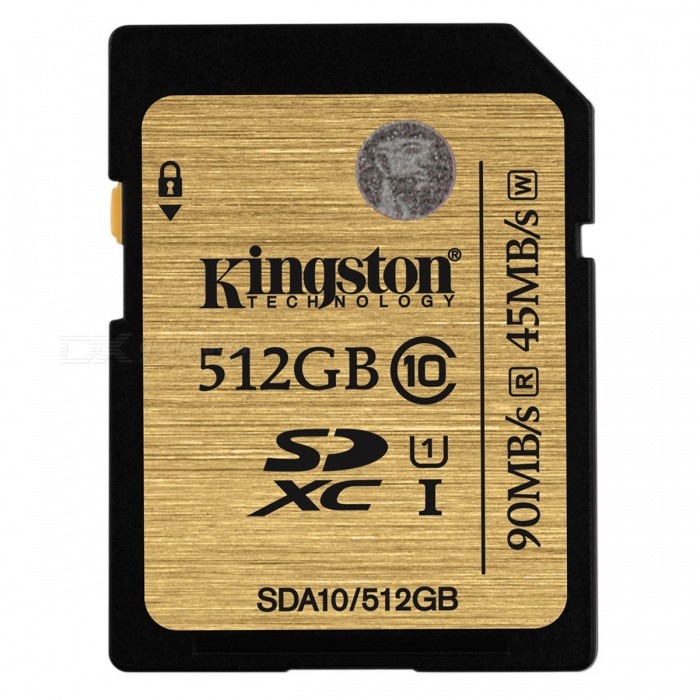 Kingston 512 GB SDXC UHS-1 class10 SDA10 / 512GB