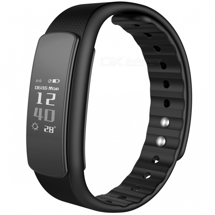iwownfit I6HR TPU + TPE Bluetooth v4.0 IP67 Smart Wristband - BlackSmart Bracelets<br>Form  ColorBlackModelI6HRQuantity1 DX.PCM.Model.AttributeModel.UnitMaterialTPU + TPEShade Of ColorBlackWater-proofIP67Bluetooth VersionBluetooth V4.0Touch Screen TypeOthers,OLEDCompatible OSAndroid 4.4 and above, IOS 8.0 and above, with Bluetooth 4.0Battery Capacity75 DX.PCM.Model.AttributeModel.UnitStandby Time5~7 DX.PCM.Model.AttributeModel.UnitPacking List1 x Smart Wristband1 x English Manual<br>
