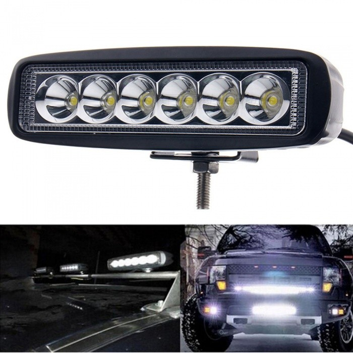 JIAWEN 18W LED Work Light Bar Lamp for Driving Truck MotorcycleDecorative Lights / Strip<br>Color BINCold WhiteModelN/AQuantity1 DX.PCM.Model.AttributeModel.UnitMaterialAluminumForm  ColorWhiteEmitter TypeOthers,N/AChip BrandOthers,N/ATotal Emitters6Color Temperature6000-6500 DX.PCM.Model.AttributeModel.UnitRate VoltageDC12-24VPower18WTheoretical Lumens1800 DX.PCM.Model.AttributeModel.UnitActual Lumens1440 DX.PCM.Model.AttributeModel.UnitWater-proofNoApplicationOthers,Work Light Bar LampColor BINCold WhitePacking List1 x LED Work Light Lamp<br>