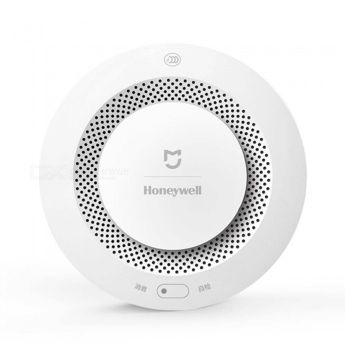 Buy Xiaomi Mijia Honeywell Fire Alarm Detector - White with Litecoins with Free Shipping on Gipsybee.com