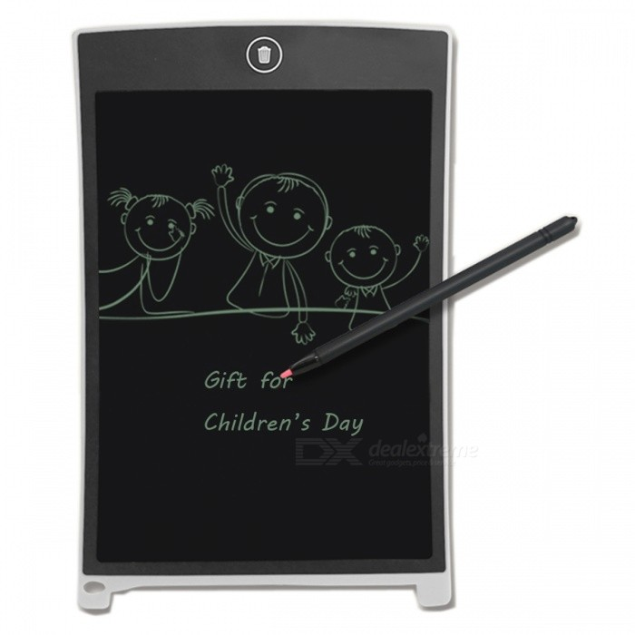 "8.5"" LCD Writing Tablet Board Jot Style eWriter - White + Black"