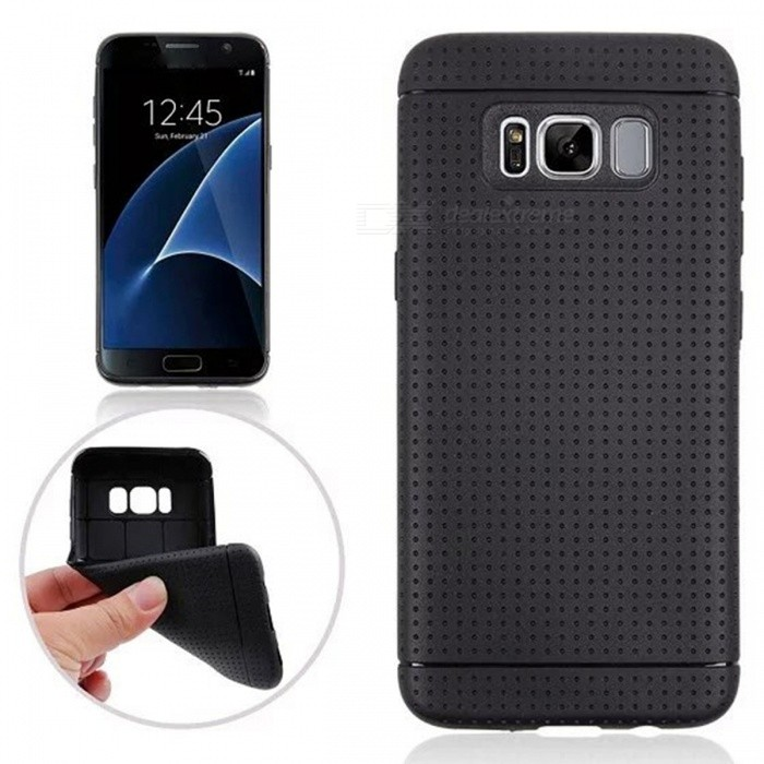 Protective TPU Back Case for Samsung Galaxy S8 - BlackTPU Cases<br>Form  ColorBlackQuantity1 DX.PCM.Model.AttributeModel.UnitMaterialTPUShade Of ColorBlackCompatible ModelsSamsung Galaxy S8DesignSolid ColorStyleBack CasesPacking List1 x Back case<br>