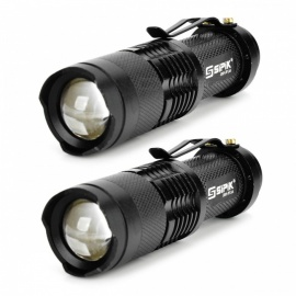 SIPIK SK68 120lm Convex Lens LED Zooming Flashlights w/ Q3-WC