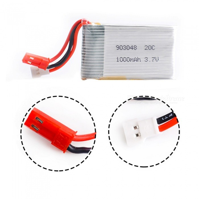 Buy 3.7V 1000mAh 20C Lipo Battery for Mini RC Drone, Quadcopter with Litecoins with Free Shipping on Gipsybee.com
