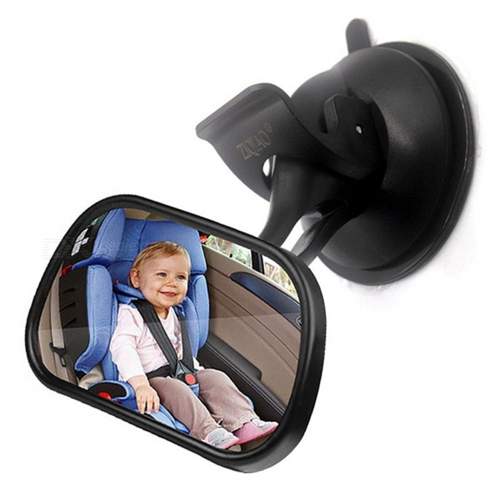 Buy ZIQIAO Car Adjustable Car Baby Safety Seat Rearview Mirror - Black with Litecoins with Free Shipping on Gipsybee.com