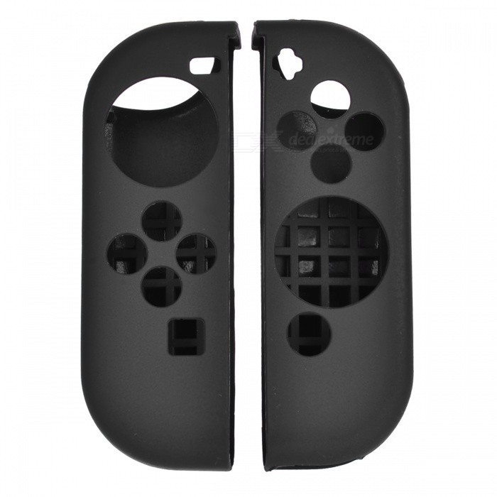 Buy Protective Silicone Cover Cases for Nintendo Switch Controller - Black with Litecoins with Free Shipping on Gipsybee.com